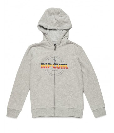 Реглан детский Rip Curl MR SCRIPT HOODED ZIP FLEECE CEMENT MARLE
