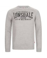 Реглан мужской Lonsdale 116043 Grey Melange/Black